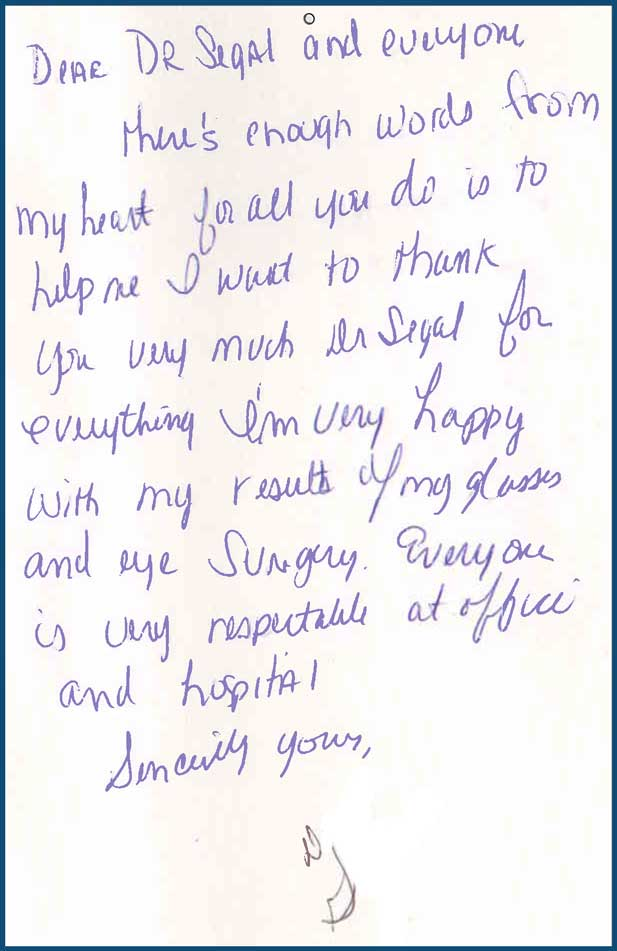 Atlanta Eye Doctor Patient Testimonials